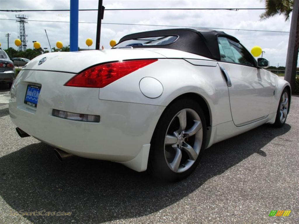 2008 nissan 350z grand touring roadster in pikes peak white pearl photo 3 851844 jax sports. Black Bedroom Furniture Sets. Home Design Ideas