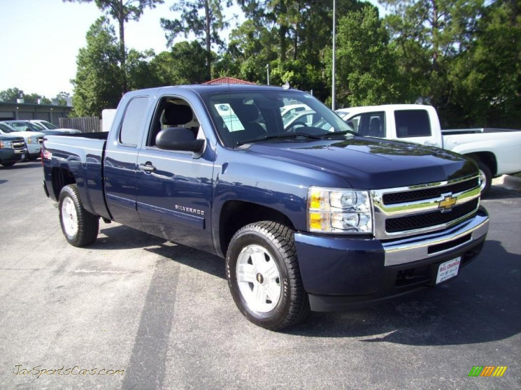 2010 chevrolet silverado 1500 lt extended cab 4x4 in imperial blue metallic photo 10 285954. Black Bedroom Furniture Sets. Home Design Ideas
