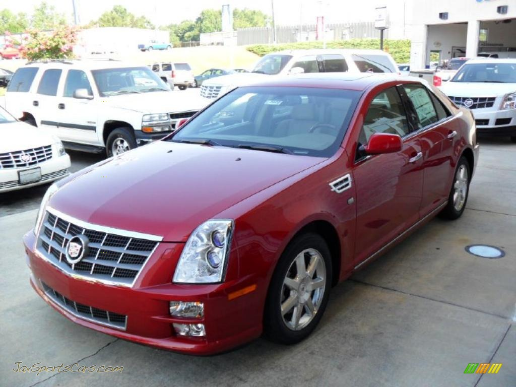 2011 cadillac sts v6 luxury in crystal red tintcoat 103867 jax sports cars cars for sale. Black Bedroom Furniture Sets. Home Design Ideas