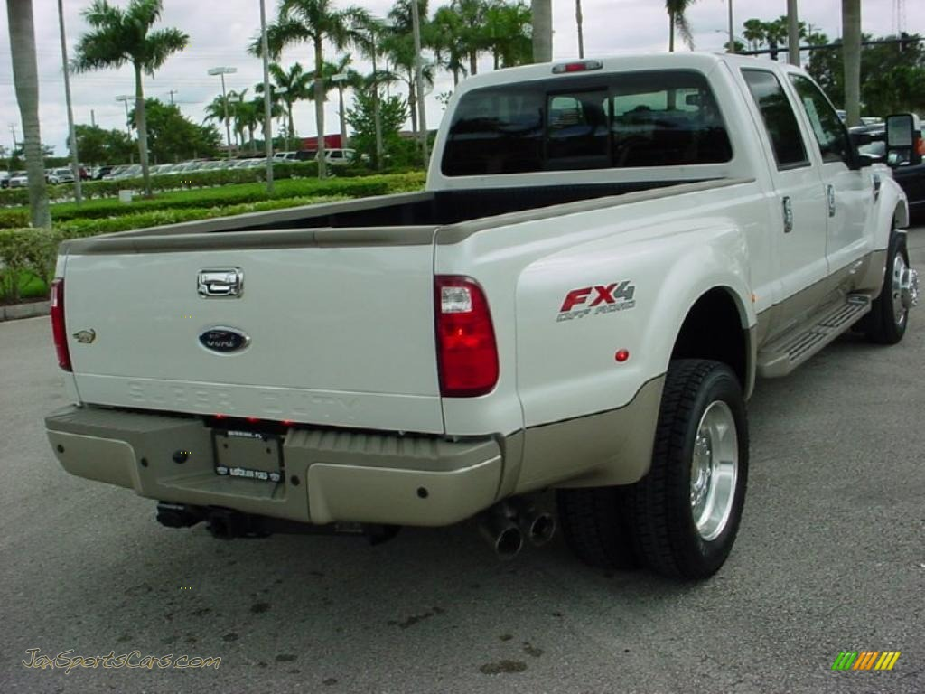 2010 F450 Super Duty King Ranch Crew Cab 4x4 Dually - White Platinum