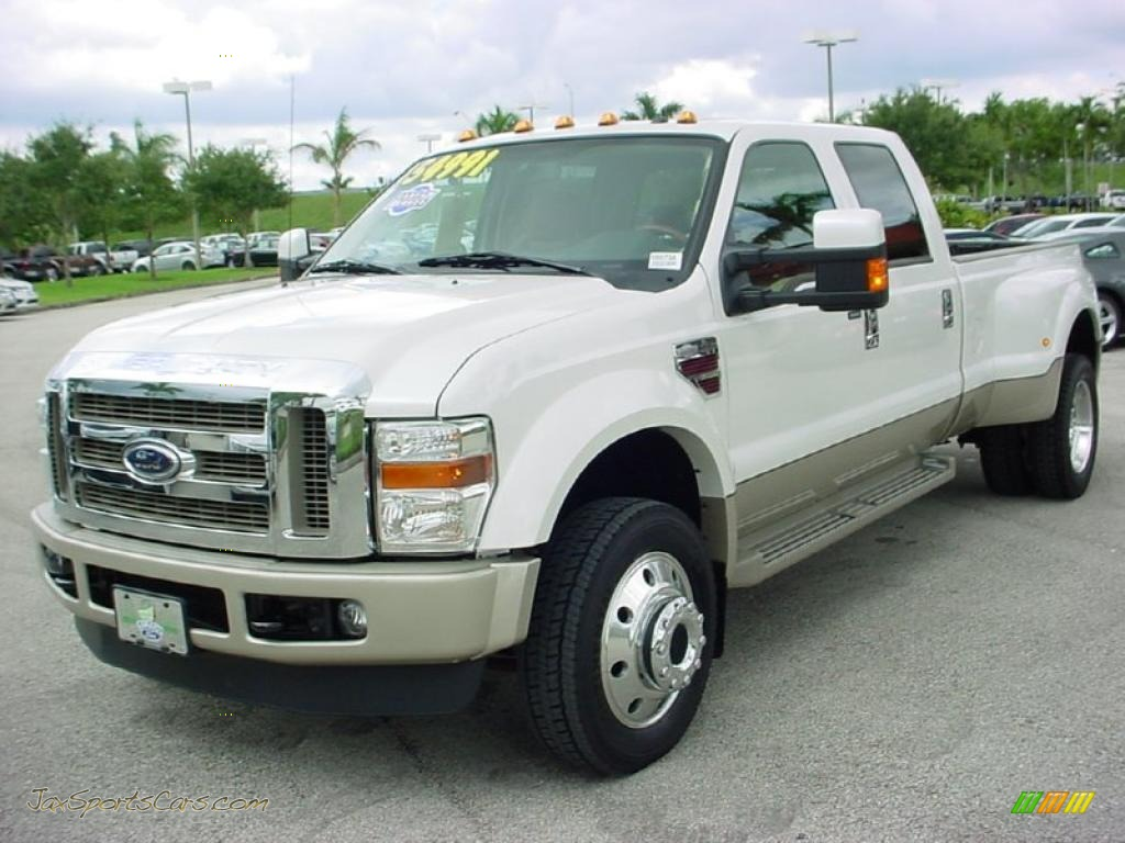 2010 F450 Super Duty King Ranch Crew Cab 4x4 Dually White Platinum