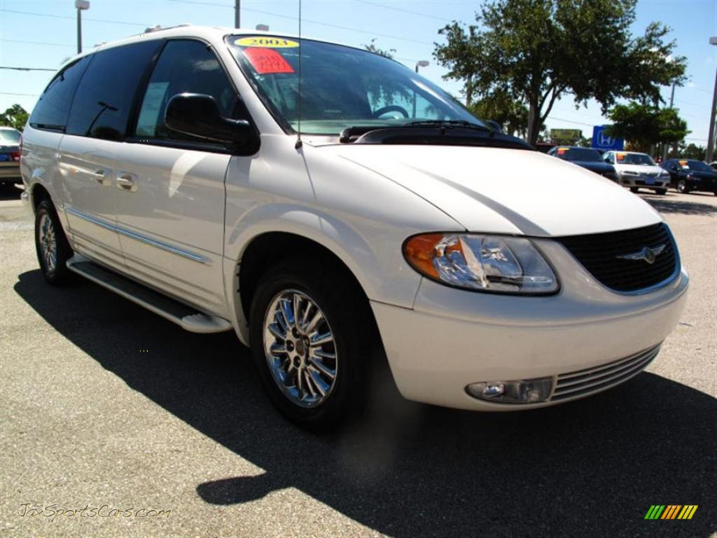 Stone white taupe chrysler town country limited
