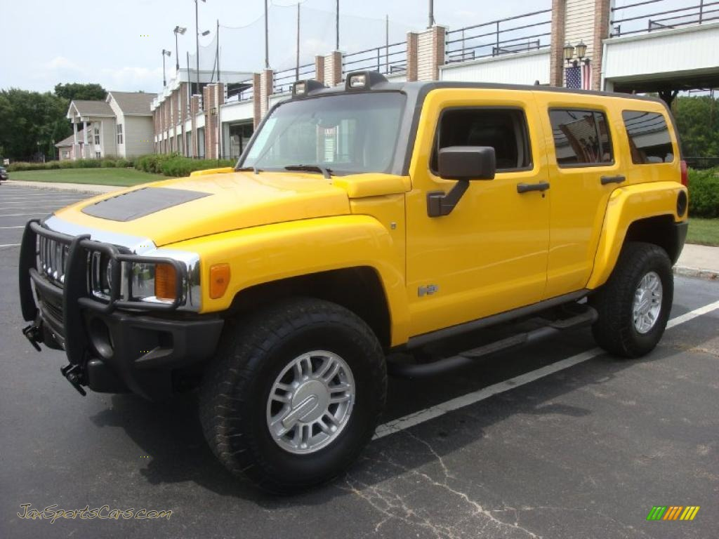 2006 hummer h3 in yellow 252501 jax sports cars cars for sale in florida. Black Bedroom Furniture Sets. Home Design Ideas
