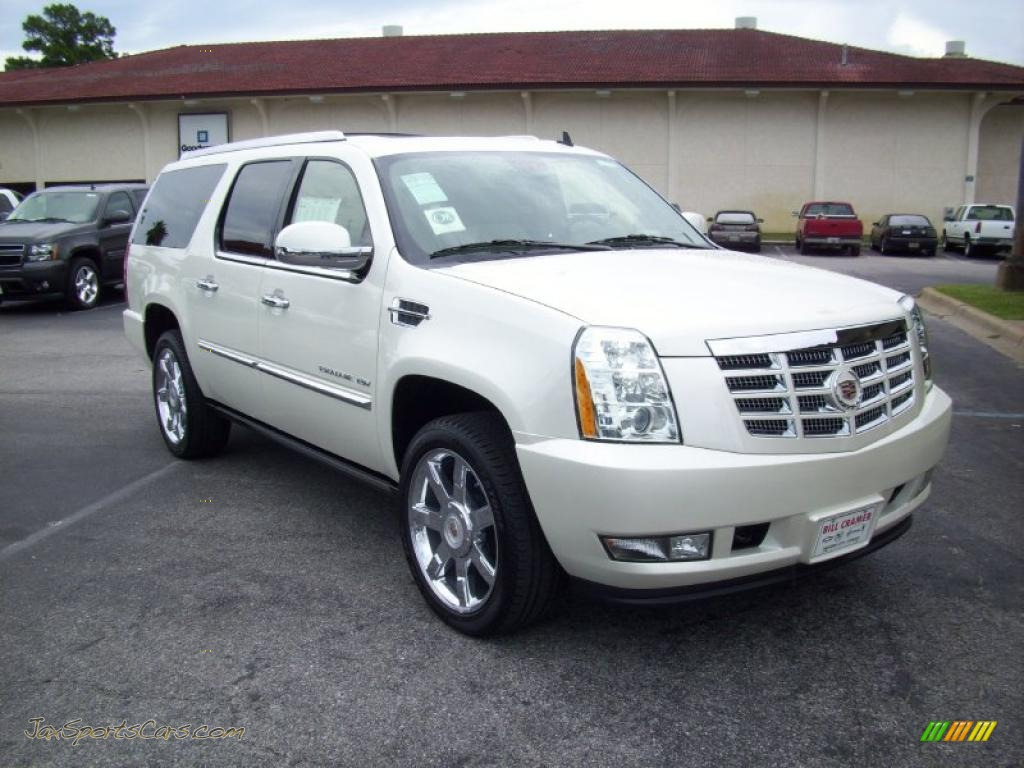 2011 cadillac escalade esv premium in white diamond. Black Bedroom Furniture Sets. Home Design Ideas