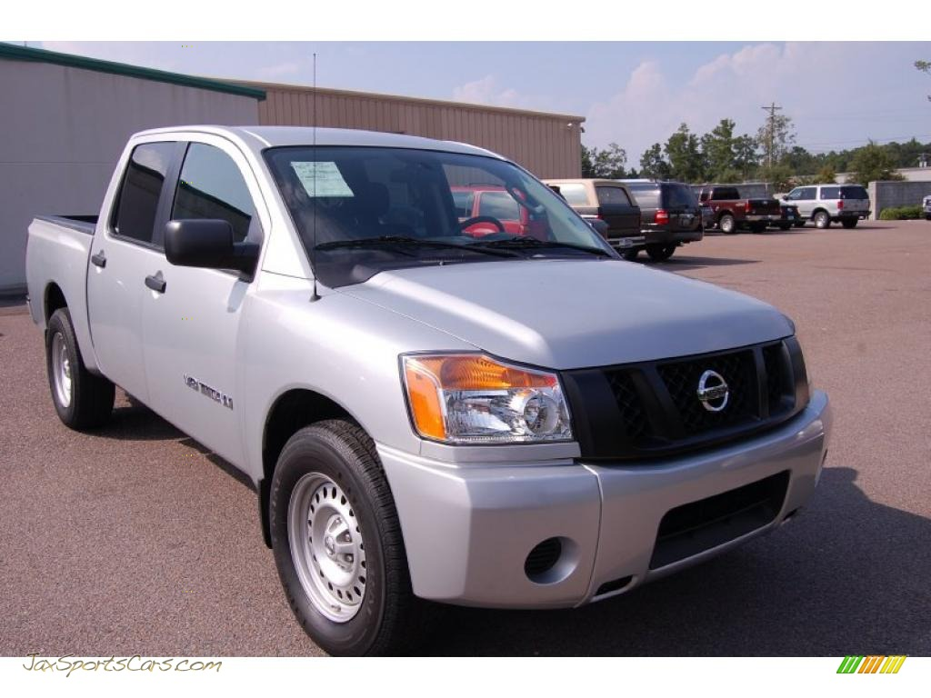 2009 nissan titan xe crew cab in radiant silver 302853 jax sports cars cars for sale in