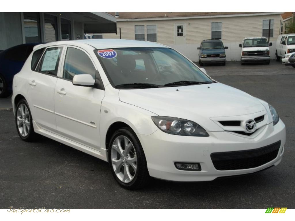 2007 mazda mazda3 s sport hatchback in crystal white pearl. Black Bedroom Furniture Sets. Home Design Ideas