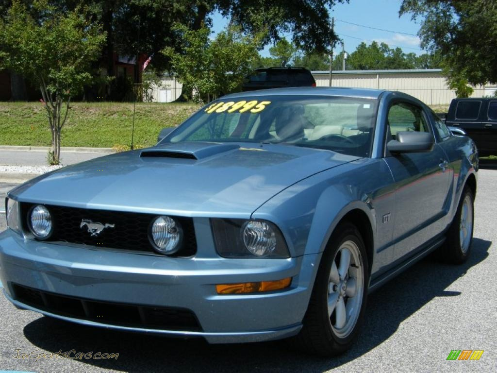 2007 ford mustang gt premium coupe in windveil blue metallic 266805 jax sports cars cars. Black Bedroom Furniture Sets. Home Design Ideas