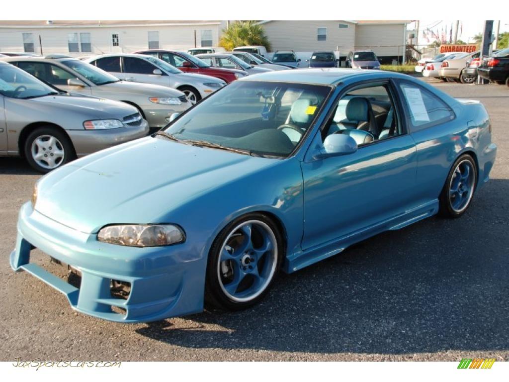 1993 Honda Civic Ex Hatchback In Captiva Blue Pearl Photo border=