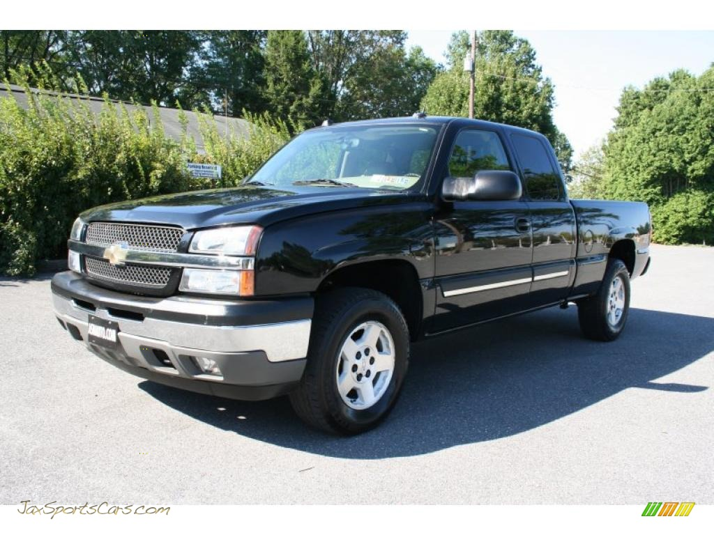 2005 chevrolet silverado 1500 z71 extended cab 4x4 in black 192733 jax sports cars cars. Black Bedroom Furniture Sets. Home Design Ideas