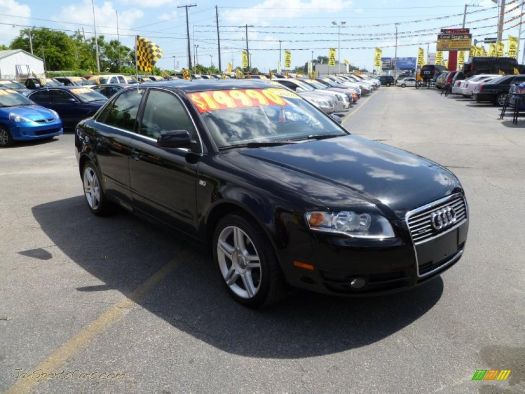 2006 audi a4 2 0t quattro sedan in brilliant black 227978 jax sports cars cars for sale in. Black Bedroom Furniture Sets. Home Design Ideas