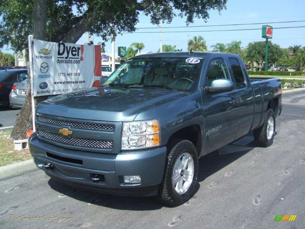 2011 Chevrolet Silverado 1500 Lt Extended Cab 4x4 In Blue
