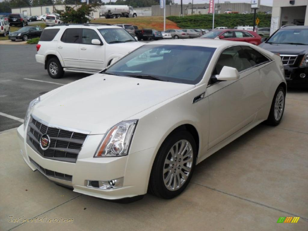 2011 cadillac cts coupe in white diamond tricoat 111368 jax sports cars cars for sale in. Black Bedroom Furniture Sets. Home Design Ideas