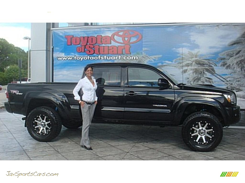 2010 toyota tacoma v6 sr5 trd sport double cab 4x4 in black sand pearl 692753 jax sports. Black Bedroom Furniture Sets. Home Design Ideas