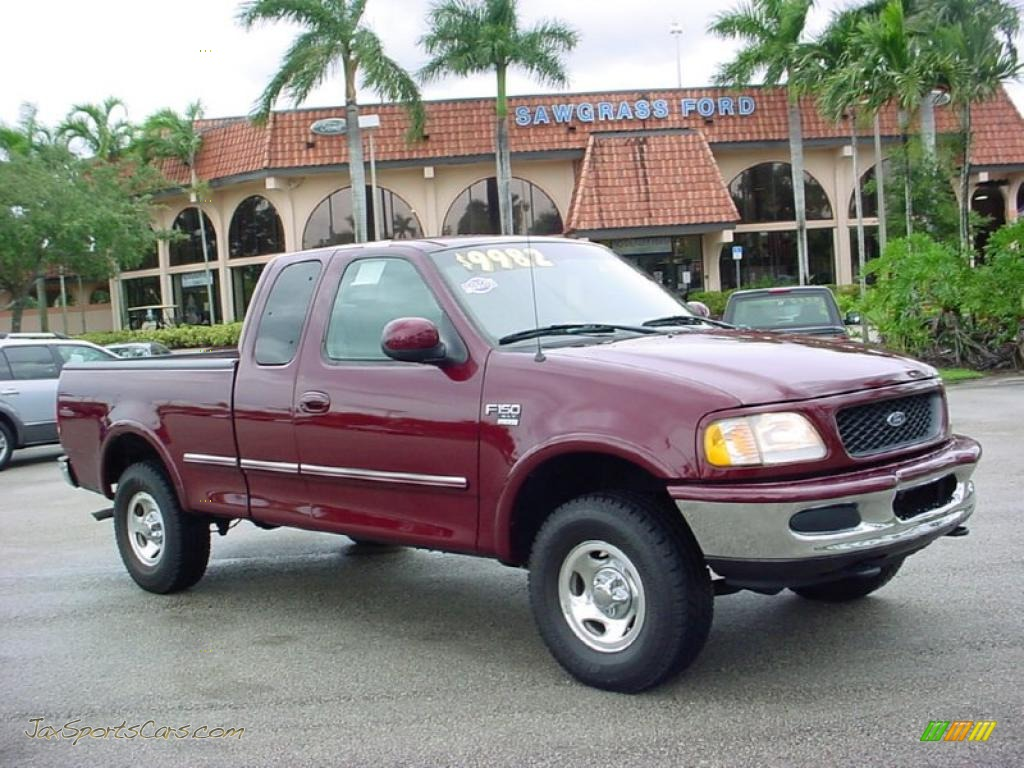 Dark toreador red metallic medium prairie tan ford f150 xlt supercab 4x4