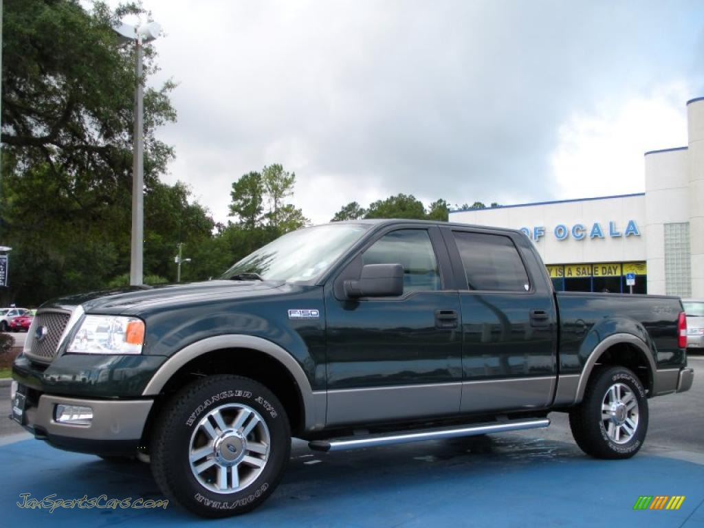 2005 ford f150 lariat supercrew 4x4 in aspen green metallic a50004. Black Bedroom Furniture Sets. Home Design Ideas
