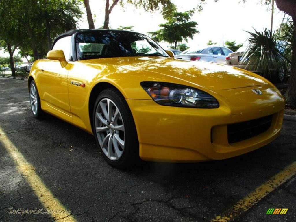 2007 honda s2000 roadster in rio yellow pearl 004253 jax sports cars cars for sale in florida. Black Bedroom Furniture Sets. Home Design Ideas