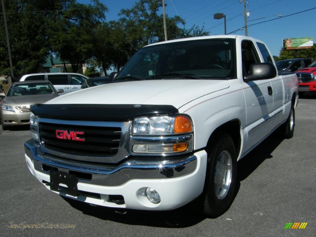 2004 gmc sierra 1500 sle extended cab in summit white 190941 jax sports cars cars for sale. Black Bedroom Furniture Sets. Home Design Ideas