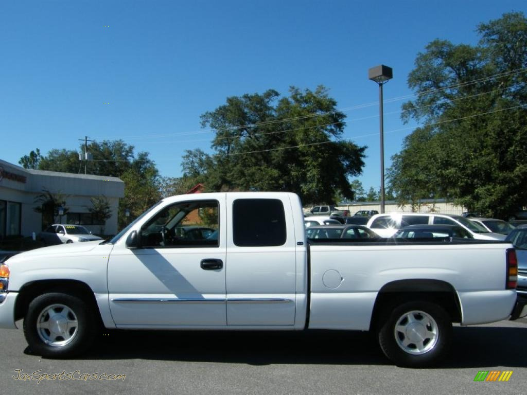 2004 gmc sierra 1500 sle extended cab in summit white photo 2 190941 jax sports cars cars. Black Bedroom Furniture Sets. Home Design Ideas
