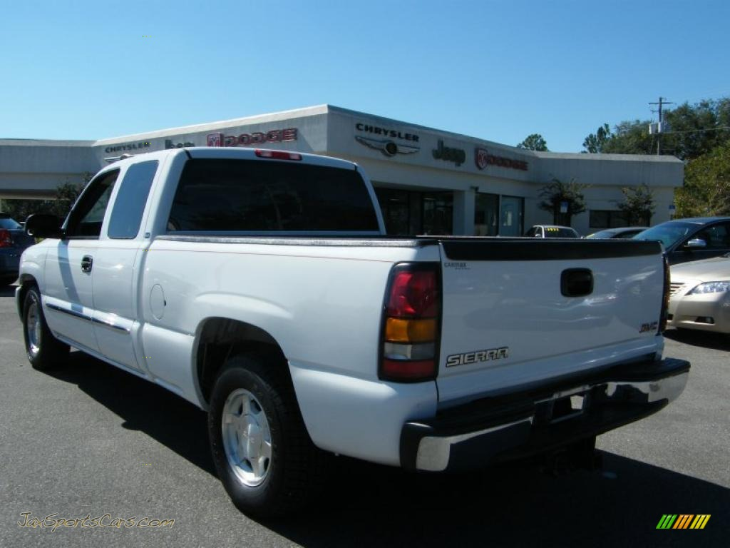 2004 gmc sierra 1500 sle extended cab in summit white photo 3 190941 jax sports cars cars. Black Bedroom Furniture Sets. Home Design Ideas