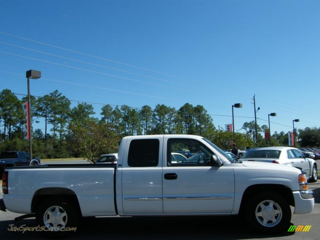 2004 gmc sierra 1500 sle extended cab in summit white photo 6 190941 jax sports cars cars. Black Bedroom Furniture Sets. Home Design Ideas