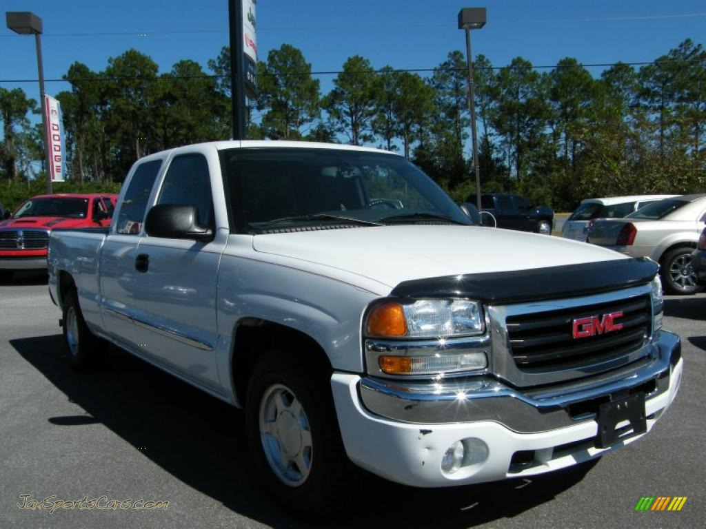 2004 gmc sierra 1500 sle extended cab in summit white photo 7 190941 jax sports cars cars. Black Bedroom Furniture Sets. Home Design Ideas