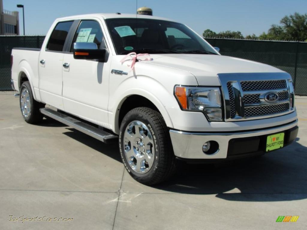 2010 ford f150 lariat supercrew in white platinum metallic tri coat c29925 jax sports cars