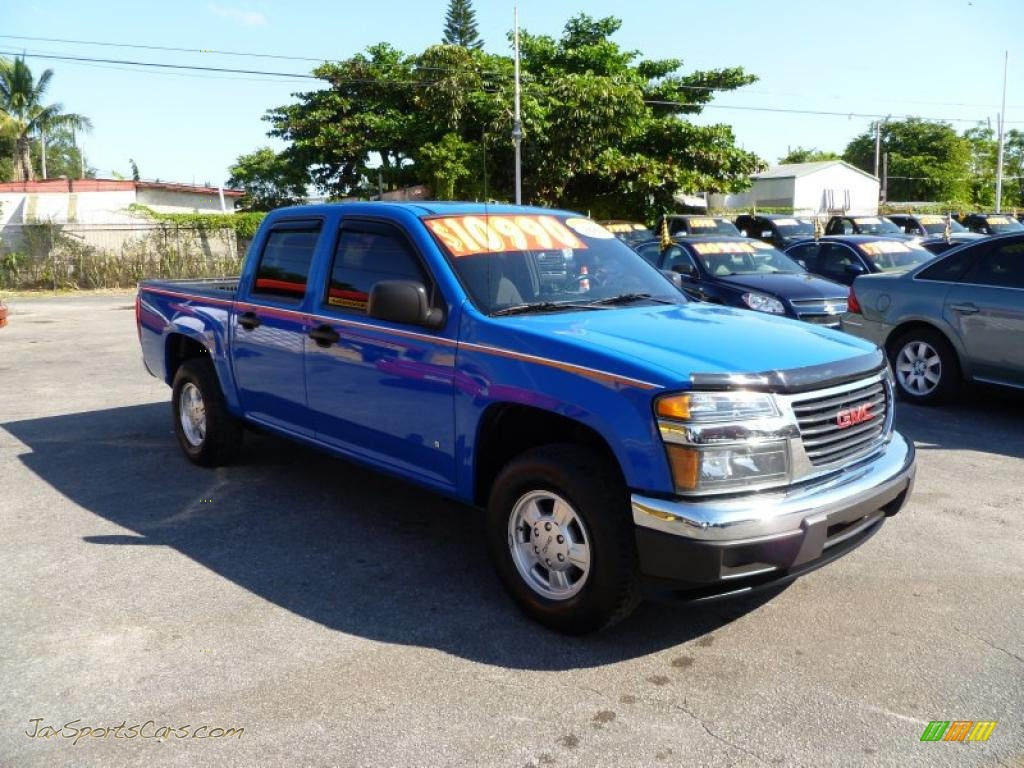2007 gmc canyon sle crew cab in sport blue 131167 jax. Black Bedroom Furniture Sets. Home Design Ideas