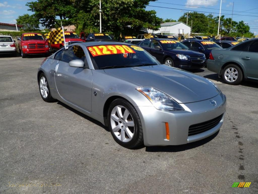 2003 nissan 350z enthusiast coupe in chrome silver 002783 jax sports cars cars for sale in. Black Bedroom Furniture Sets. Home Design Ideas