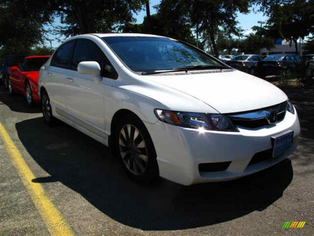 2009 honda civic ex l sedan in taffeta white 311279 jax sports cars cars for sale in florida. Black Bedroom Furniture Sets. Home Design Ideas