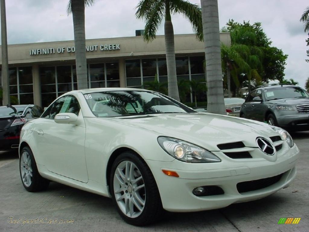2008 mercedes benz slk 280 roadster in arctic white 183182 jax sports cars cars for sale. Black Bedroom Furniture Sets. Home Design Ideas