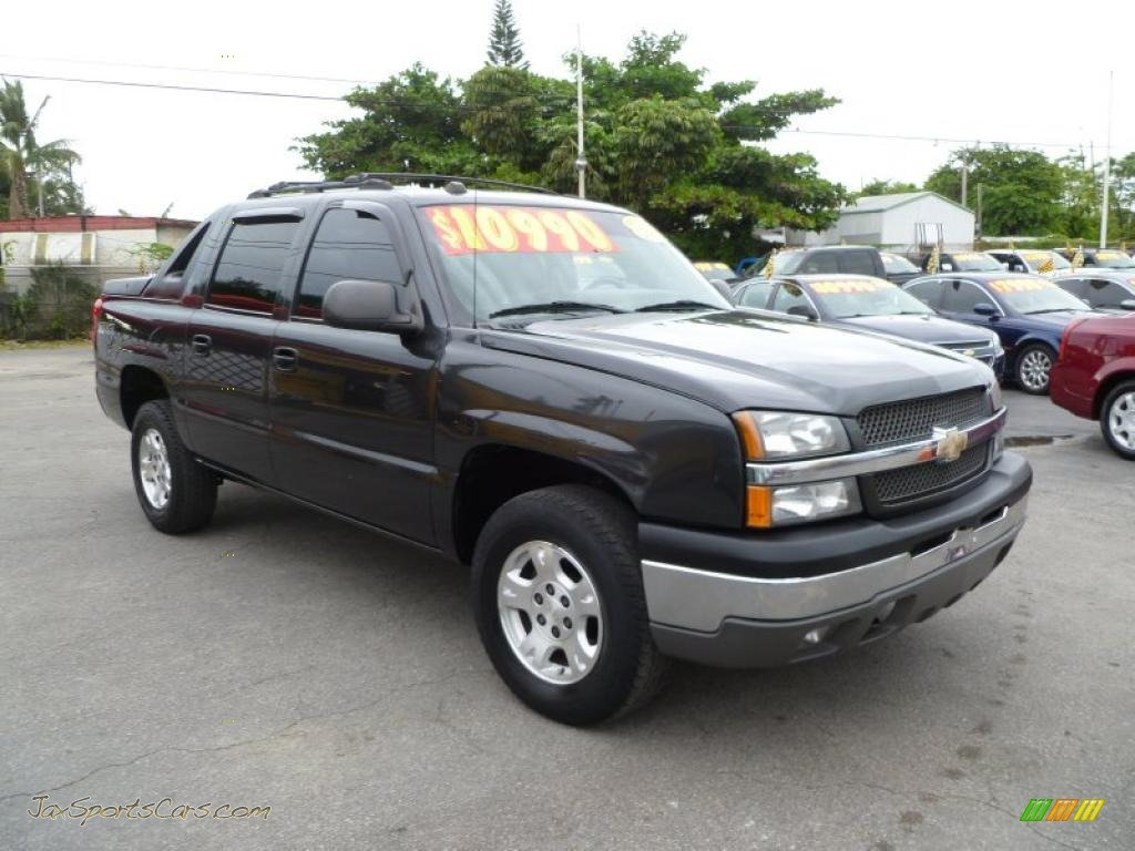 2004 chevrolet avalanche 1500 z66 in dark gray metallic 309558 jax sports cars cars for