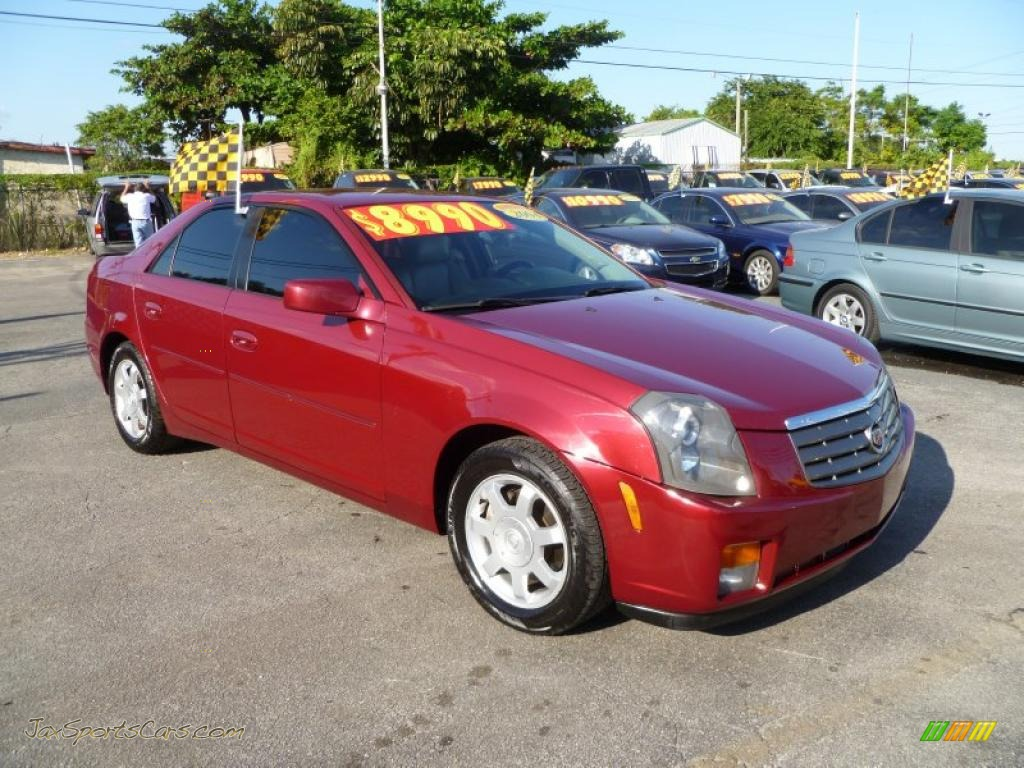 2004 Cadillac Cts Sedan In Red Line 112836 Jax Sports