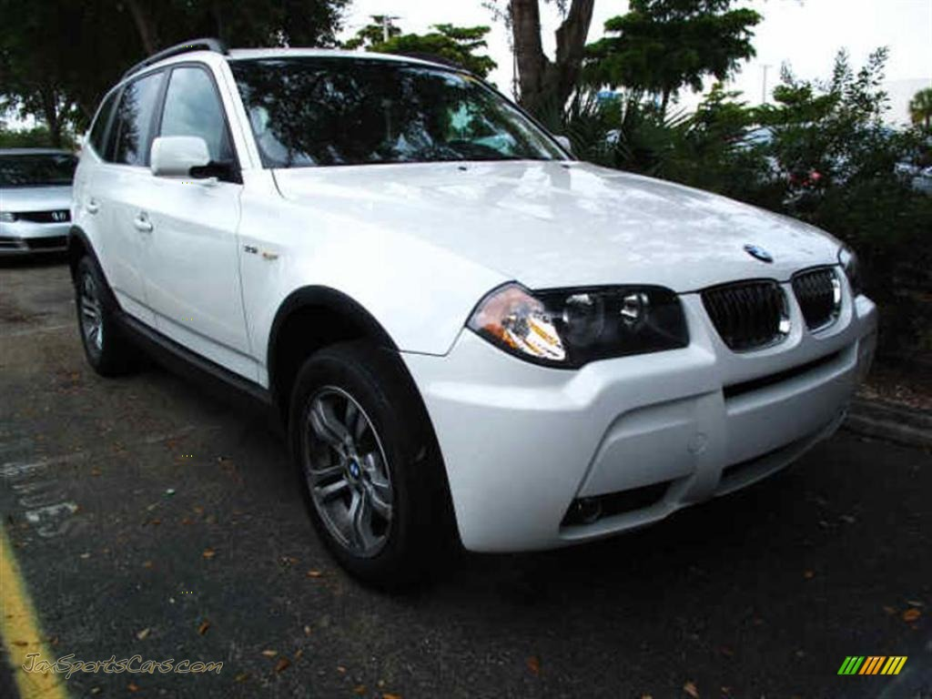 2006 bmw x3 in alpine white d31164 jax sports cars cars for sale in florida. Black Bedroom Furniture Sets. Home Design Ideas