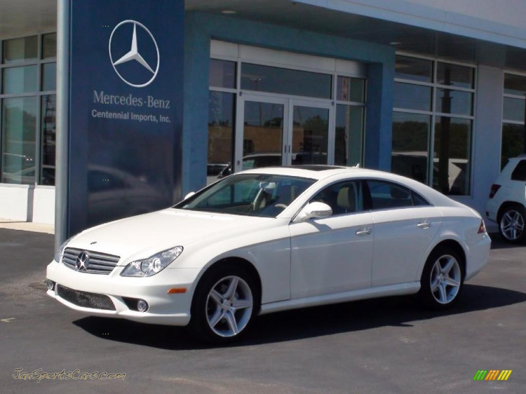 2008 mercedes benz cls 550 in diamond white metallic 132406 jax sports cars cars for sale. Black Bedroom Furniture Sets. Home Design Ideas