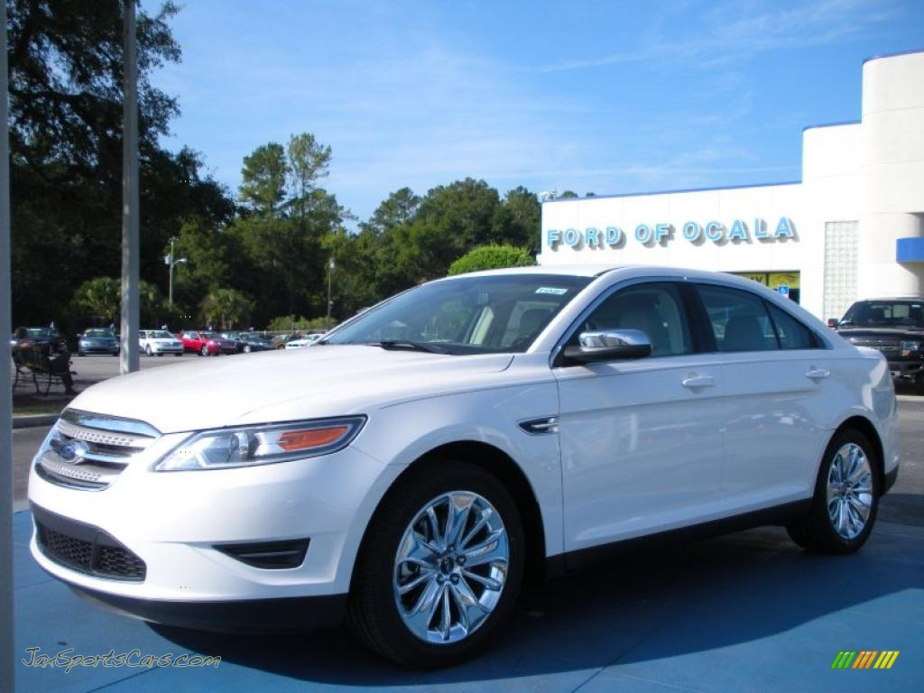 2011 ford taurus limited in white platinum tri coat 131037 jax sports cars cars for sale. Black Bedroom Furniture Sets. Home Design Ideas