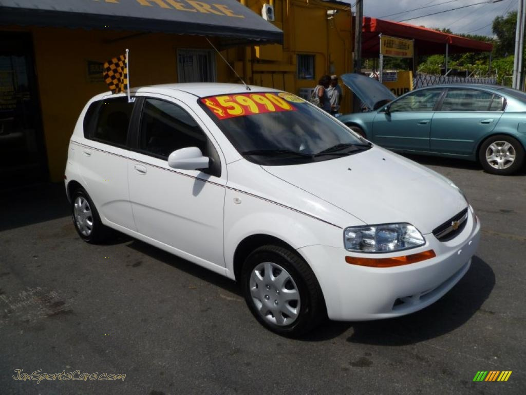 2006 chevrolet aveo ls hatchback in summit white 534442. Black Bedroom Furniture Sets. Home Design Ideas