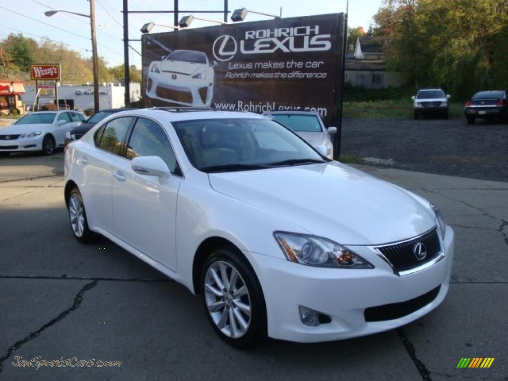 2009 Lexus Is 250 Awd In Starfire White Pearl 034602