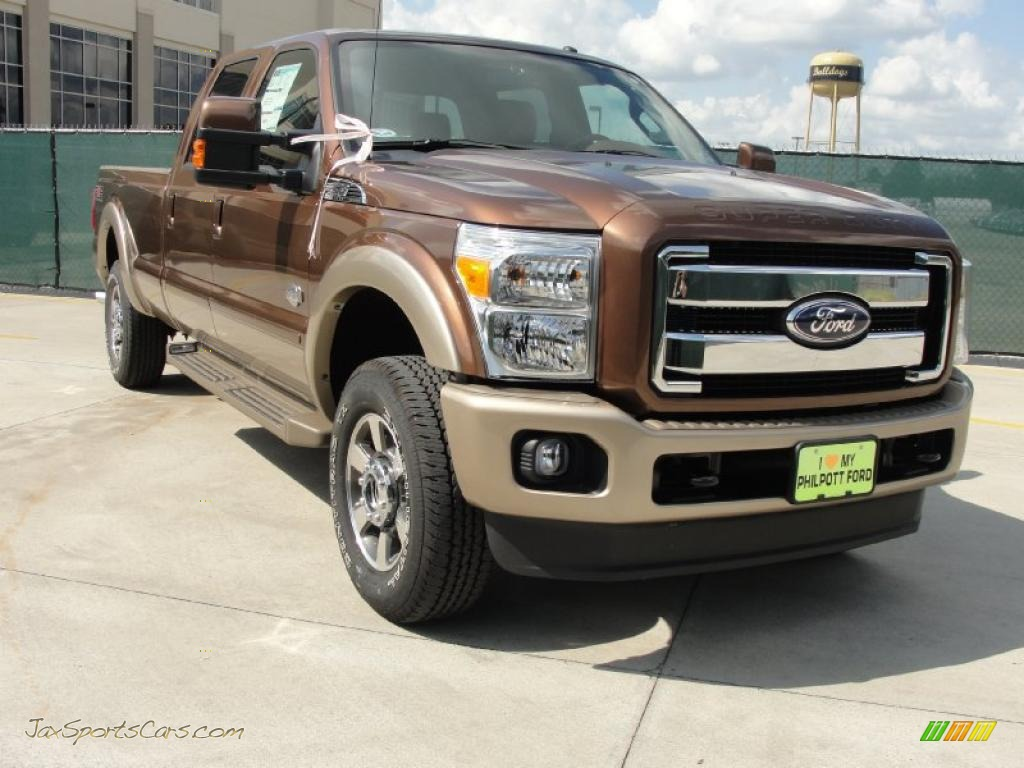 2011 Ford F250 Super Duty King Ranch Crew Cab 4x4 In Golden Bronze Metallic A98729 Jax