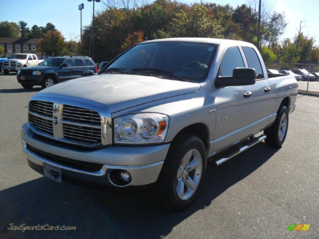 2008 dodge ram 1500 big horn edition quad cab in bright silver metallic 564227 jax sports. Black Bedroom Furniture Sets. Home Design Ideas