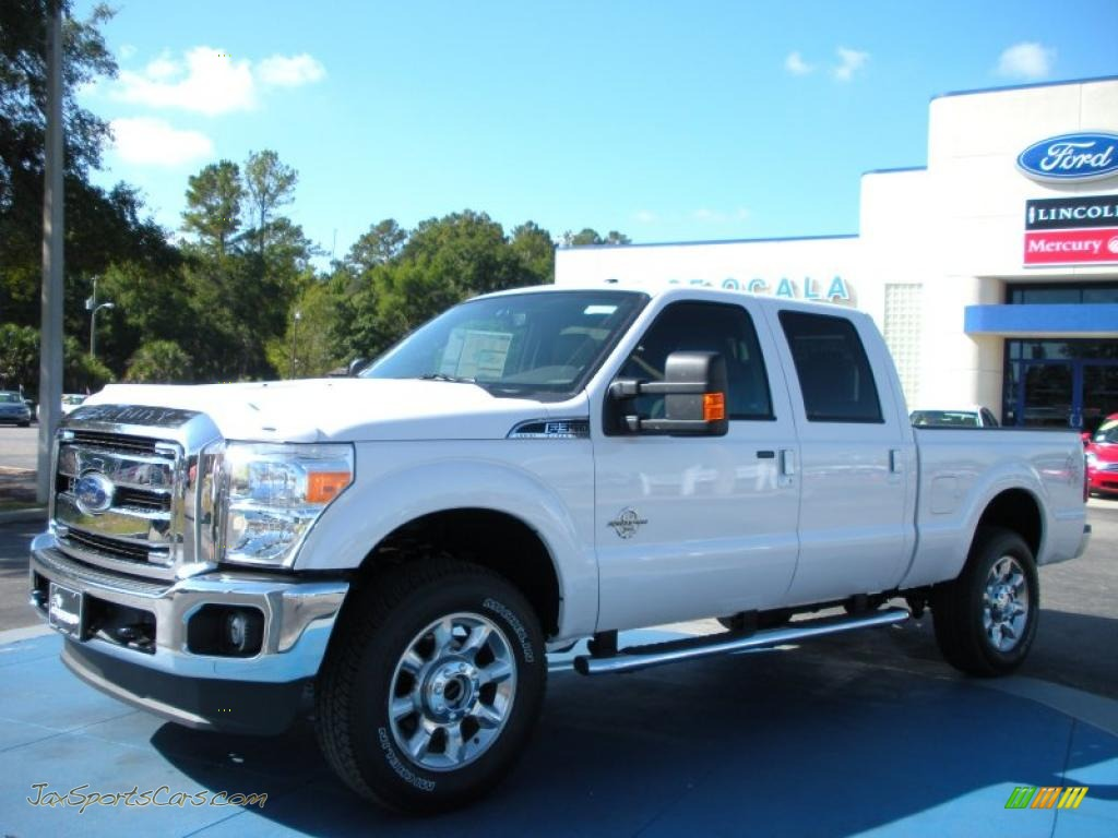 2011 ford f350 super duty lariat crew cab 4x4 in oxford white b29655 jax sports cars cars. Black Bedroom Furniture Sets. Home Design Ideas