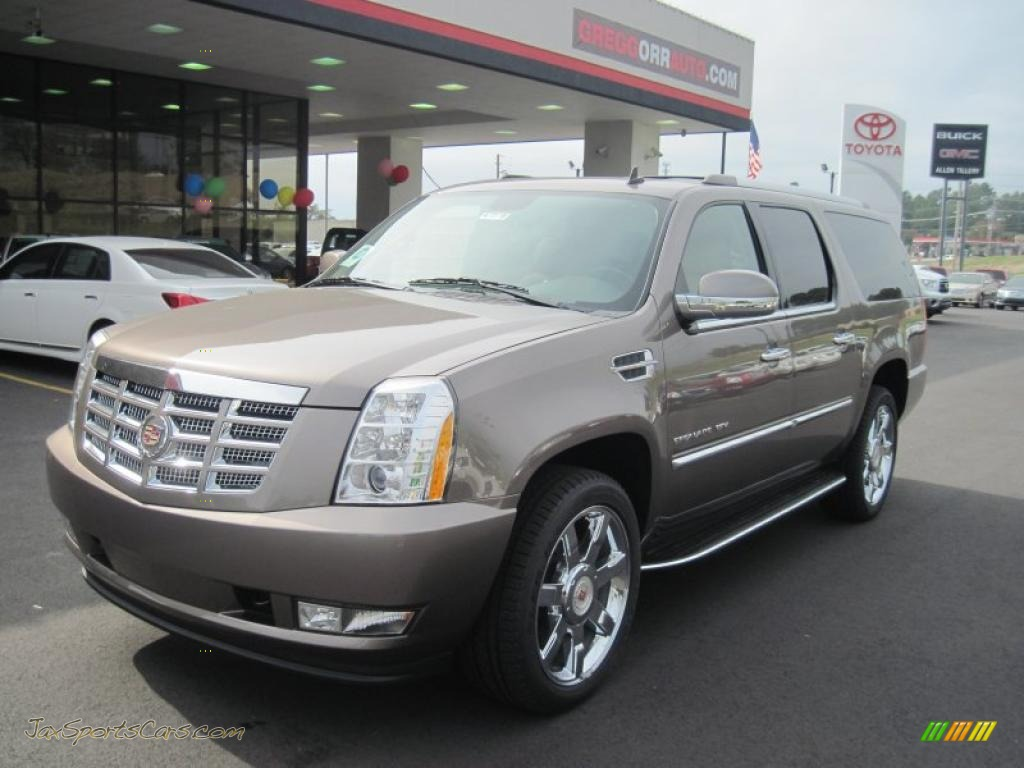 2011 cadillac escalade esv luxury awd in mocha steel. Black Bedroom Furniture Sets. Home Design Ideas