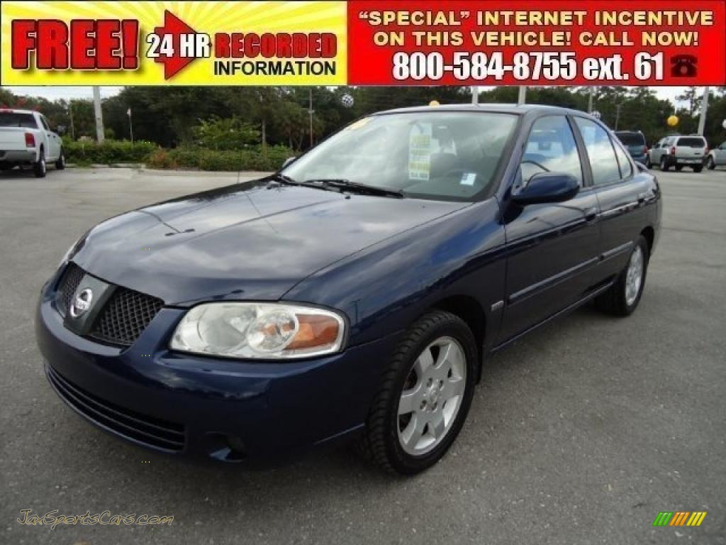 2006 nissan sentra 1 8 s special edition in blue dusk metallic 482281 jax sports cars cars. Black Bedroom Furniture Sets. Home Design Ideas