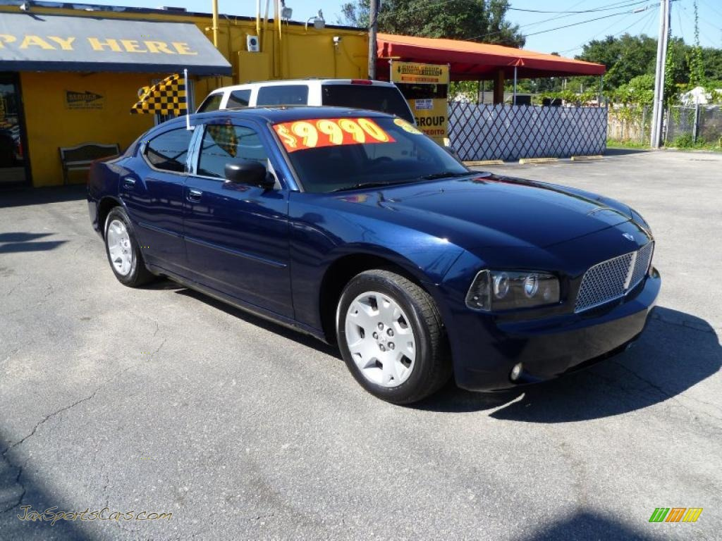 2006 dodge charger se in midnight blue pearl   314435 jax sports cars   cars for sale in florida