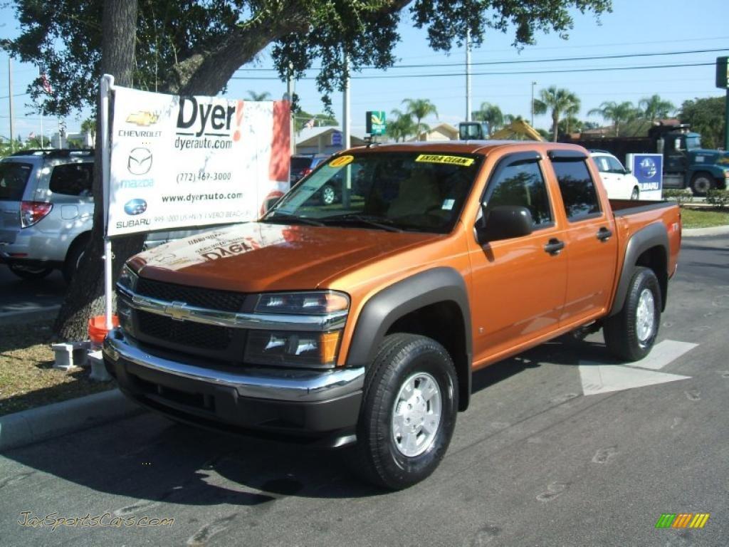 2007 Chevrolet Colorado Lt Crew Cab In Sunburst Orange