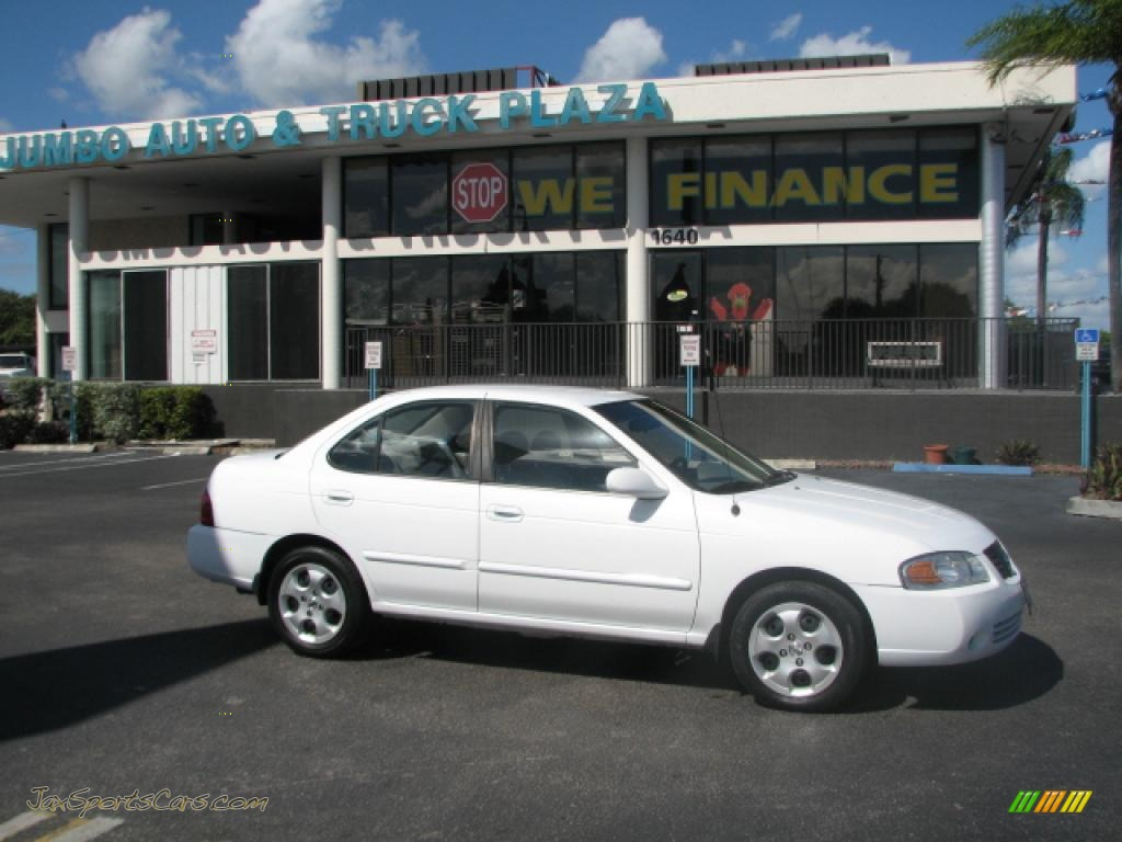 All Types 2004 sentra : 2004 Nissan Sentra 1.8 S in Cloud White - 859130 | Jax Sports Cars ...