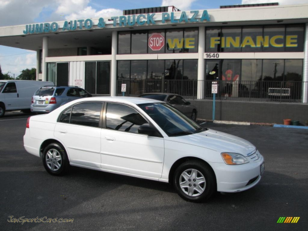 2003 Honda Civic Lx Sedan In Taffeta White 547737 Jax