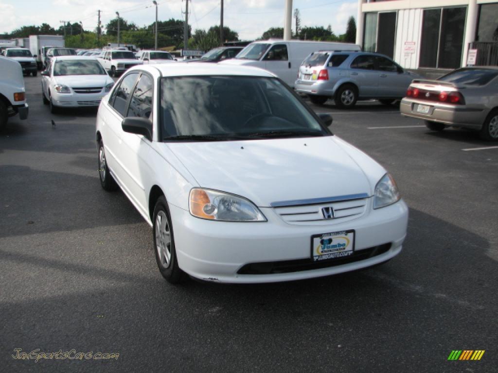 2003 Honda Civic Lx Sedan In Taffeta White Photo 2