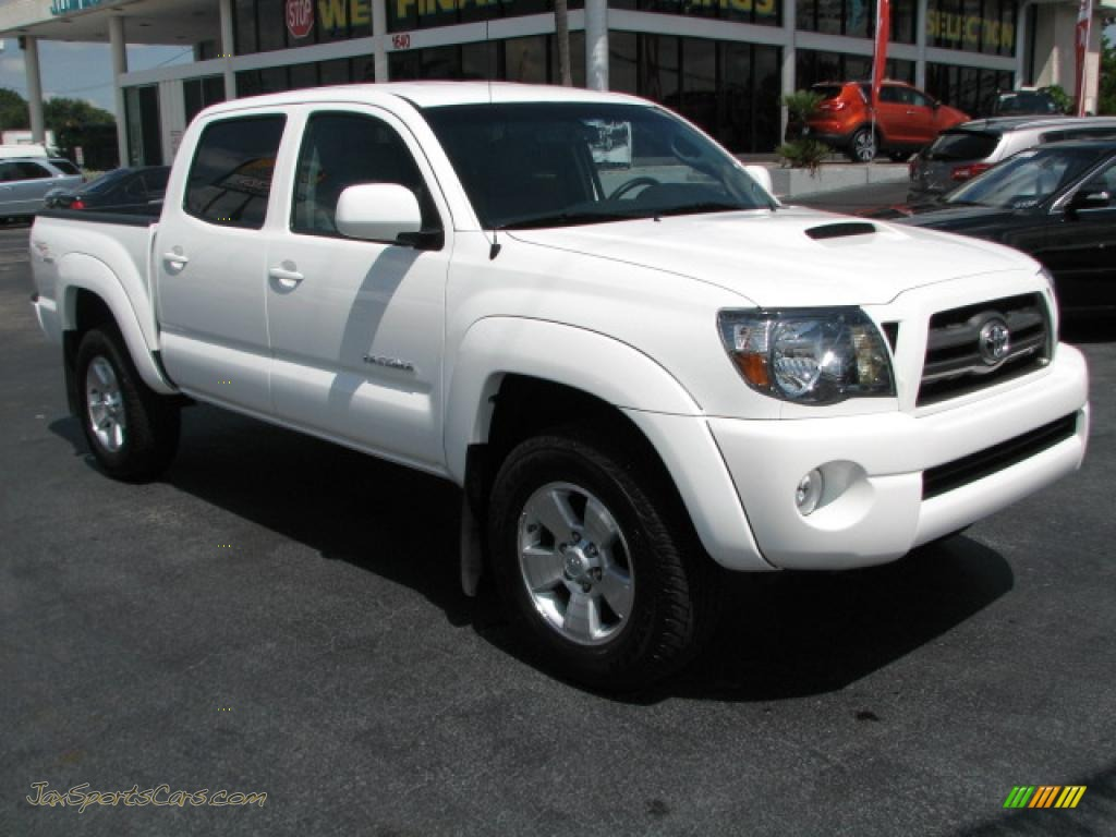2010 toyota tacoma v6 sr5 trd sport double cab in super white 687796 jax sports cars cars. Black Bedroom Furniture Sets. Home Design Ideas