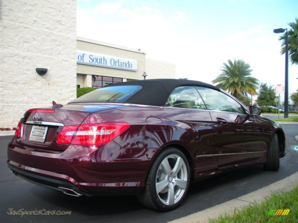 2011 mercedes benz e 550 cabriolet in mystic red metallic. Black Bedroom Furniture Sets. Home Design Ideas