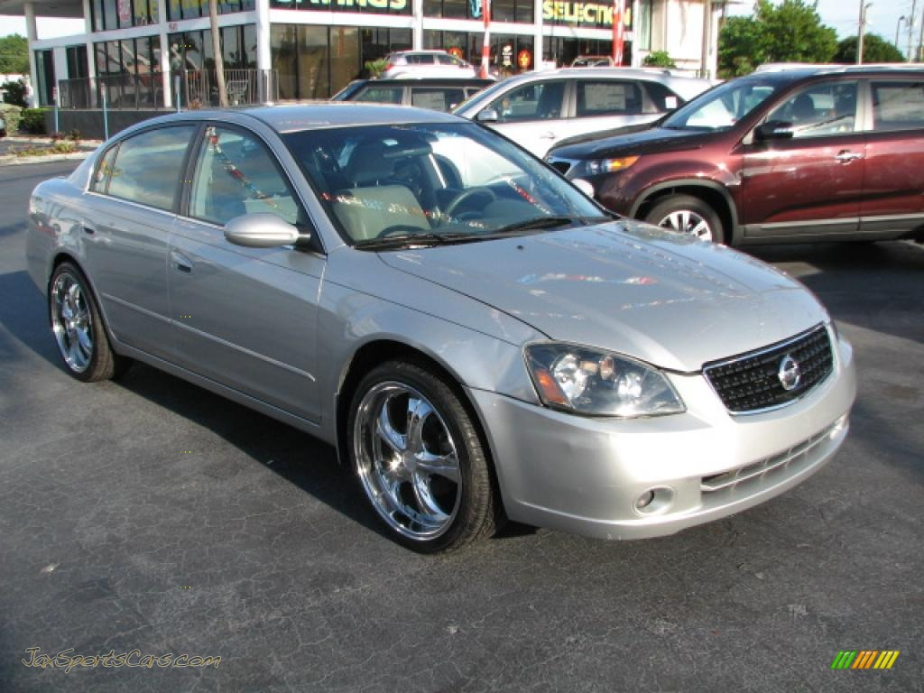 2005 nissan altima 2 5 s in sheer silver metallic 420966 jax sports cars cars for sale in. Black Bedroom Furniture Sets. Home Design Ideas